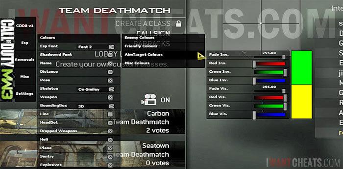 cod mw3 hack menu