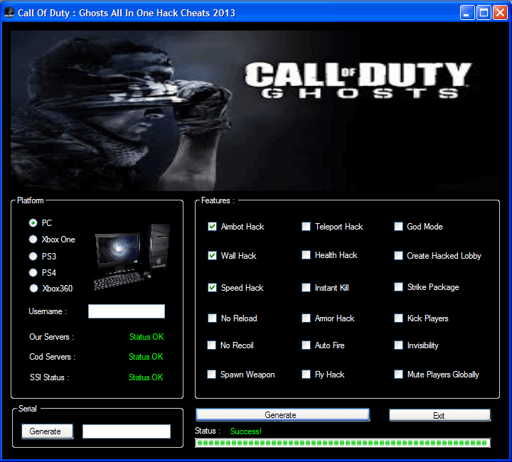 Call of Duty Ghosts Hack Cheat Engine