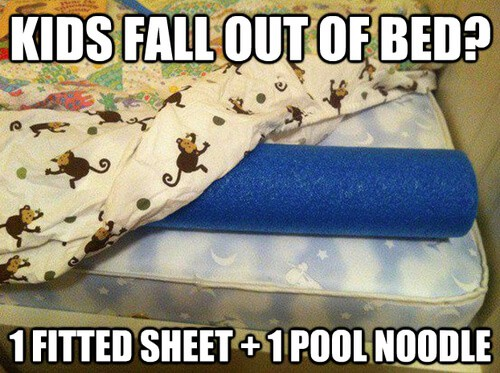 Pool Noodle Bed Hack