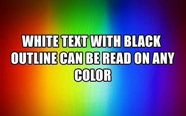 the best text color to use