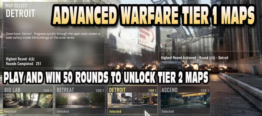 Advanced Warfare Tier 1 Maps