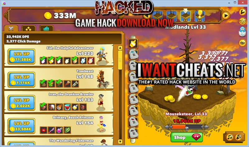 Clicker Heroes Hacks & Cheats - IWantCheats net