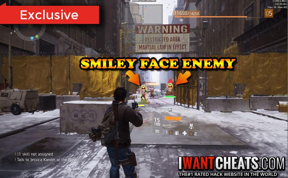 the division smiley face hack