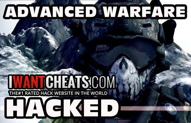 advanced warfare hacked iwantcheats