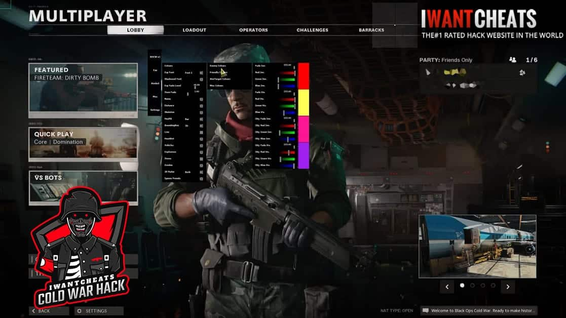 black ops cold war hack menu