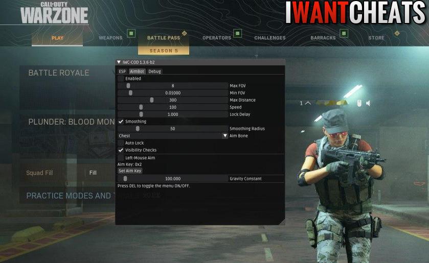 call of duty modern warfare hack ingame menu screen
