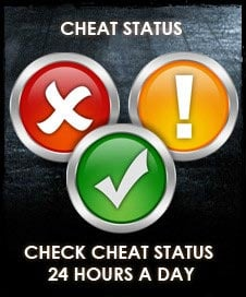 iwantcheats status info for all our cheats